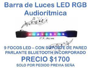 Barra de luces led rgb audioritmica con parlante bluetooth
