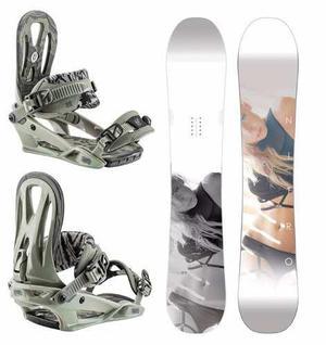 Combo snowboard nitro smp + fijaciones nitro wizard
