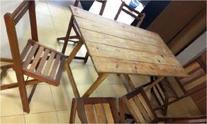 Mesas sillas madera exterior urgente!
