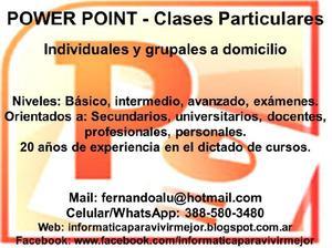 Powerpoint clases particulares a domicilio de presentaciones