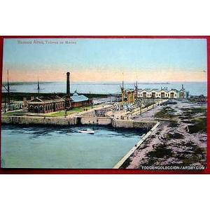 Antigua postal talleres de la marina en el hoy puerto madero