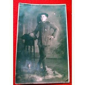 Italia foto postal estudio bersaglieri uniforme del soldado