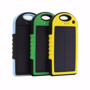 Bateria cargador solar portatil usb 5000mah celular tablet
