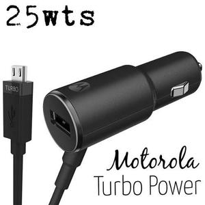 Cargador motorola turbo power auto 25wts original locales !