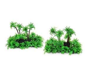 Conjunto de 2 plástica de la palmera de la planta bajo el a