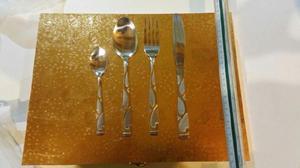 Set de cubiertos x 24 piezas acero inoxidable 1.5 mm con