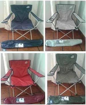 Sillón sillas plegables director camping 120kg reforzada