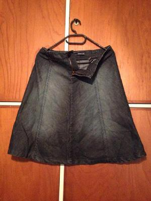 Mini falda de denim jean