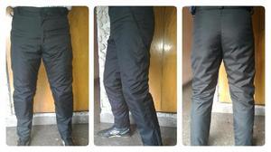 Pantalón térmico impermeable abrigo protecciones moto