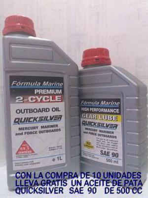 Aceite para lanchas motor 2 tiempos quicksilver blue