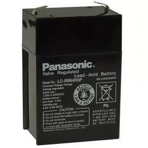 Bateria panasonic 6v 4.5ah luz de emergencia ups alarma auto