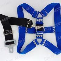 Pretal,pechera arnes+cinturón de seguridad perros grandes