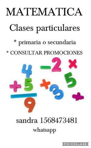 Clases de matemática particulares