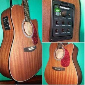 Espectacular guitarra acustica nueva ecu fishman,