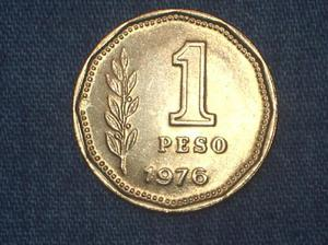 Lote de 2 monedas 1 peso ley 18.188 1976