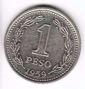 Moneda 1 peso moneda nacional 1959