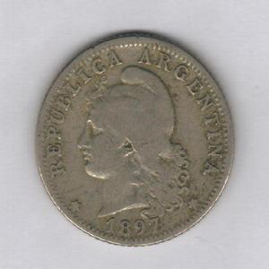 Moneda 20 Centavos 1897 Níquel, Excelente