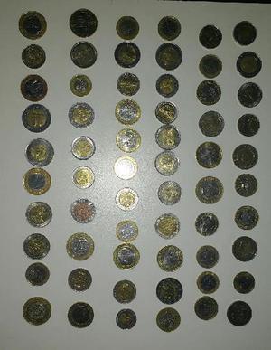 Vendo lote de 62 monedas bimetalicas