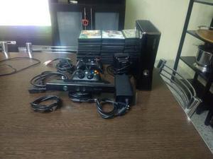 Xbox 360+ kinect+2 joystick+hdmi+64 juegos.