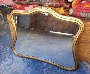 Espejo antiguo cristal biselado clasf for Espejos con marco de cristal