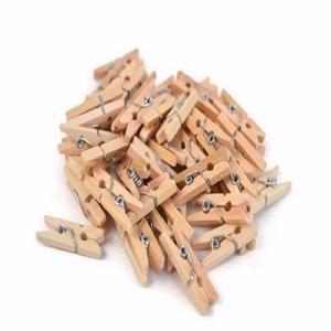 Mini broches de madera pack x 50 de 2.5 largo color natural