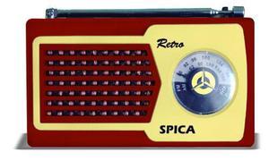 Radio Spica Sp555 Diseño Retro Style Am/fm Vintage Nuevas