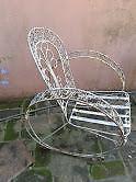Sillones hierro antiguo vintage-retro usado*son 2 sillones=