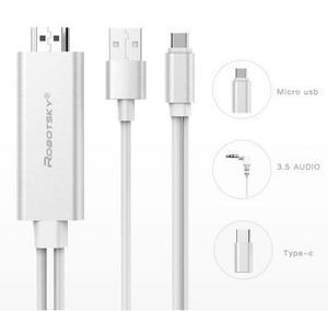 Cable hdmi adaptador usb type c tablet celular android mi hd