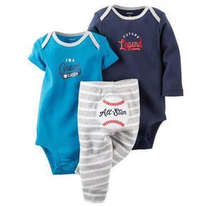 e0e43e507 Carters conjunto bodysuits + pantalon nena  varon imp. usa