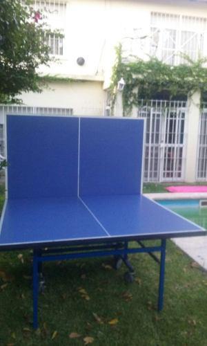 Mesa De Ping Pong Medidas Profesionales Con Red Y Paletas En