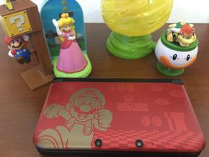 Nintendo 3ds xl edición especial mario. flasheada