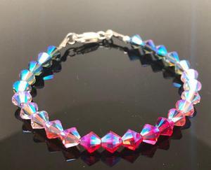 bdeec03a5ca4 Pulsera cristales swarovski plata 925 novias joyas noche en ...