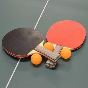Set 2 paletas ping pong + 3 pelotas, tenis de mesa
