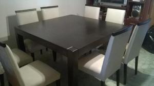 Vendo juego de comedor mesa cuadrada con 8 sillas en Paraná ...