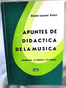 Apuntes de didáctica de la musica alicia leonor veltri ed