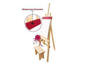 Atril de madera con rotafolio para niños - 50 x 138 cm
