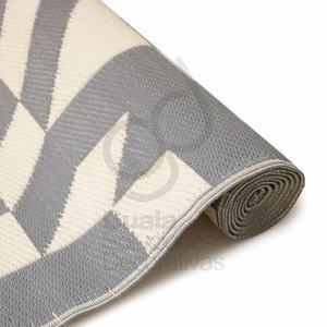 Alfombra carpeta tejida exterior lavable 180x120 cm ae027