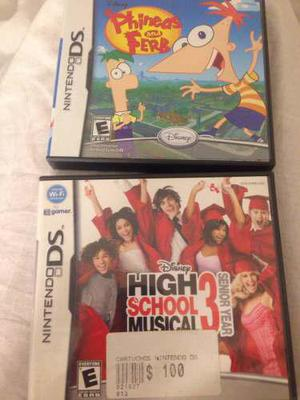 Juegos para nintendo ds,phineas y ferb/high school musical
