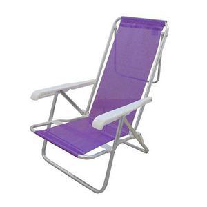 Reposera reclinable sannet 7/8 mor lila aluminio tio musa