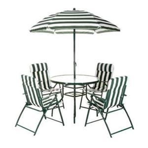 Set exterior mesa 6 piezas 4 sillas exterior jardin premium