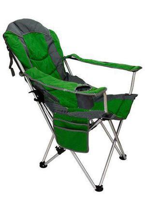 Sillón silla camping plegable reclinable posavaso acolchado