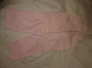 Campera chaleco y pantalon polar rosa talle 2 beba