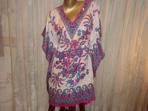 Blusa -vestido -tunica hindu - mariposa - tipo - poncho