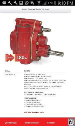 Bomba hidraulica perita 180lts (volcador)