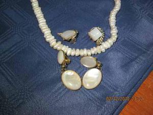 990b3994883d Hermoso collar de perlas cultivadas auténticas con aros