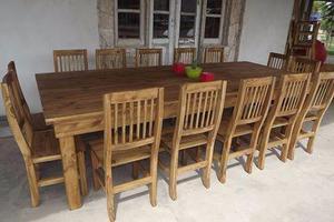 Mesa de quincho comedor cocina estilo campo maciza oferta en ...