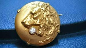 Prendedor de oro fix art nouveau
