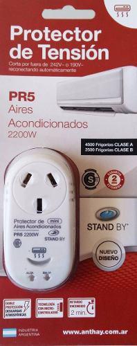 Protector de tension pr5 2200w lavarropas aire acondicionado