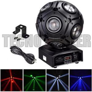 Bola movil pro 9 led 12w dmx audioritmica tecno cooler