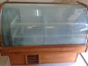 Heladera exhibidora vidrio curvo